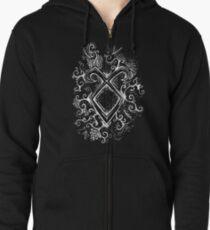 Angelic Rune Mandala- Inverted Zipped Hoodie