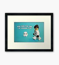 Lady Stormtrooper Valentine Framed Print