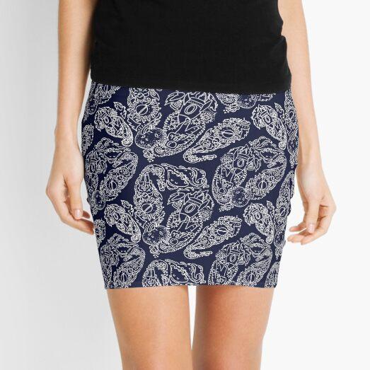 Cosmic Paisley Navy Mini Skirt