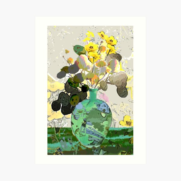 Honesty and Buttercups Art Print