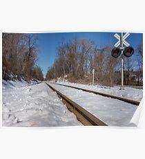 HDR Train Tracks Poster