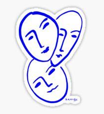 Three Masks by Matisse Sticker