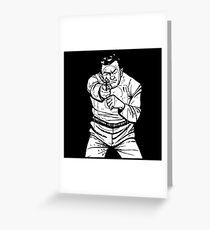 punk shooting range target Greeting Card