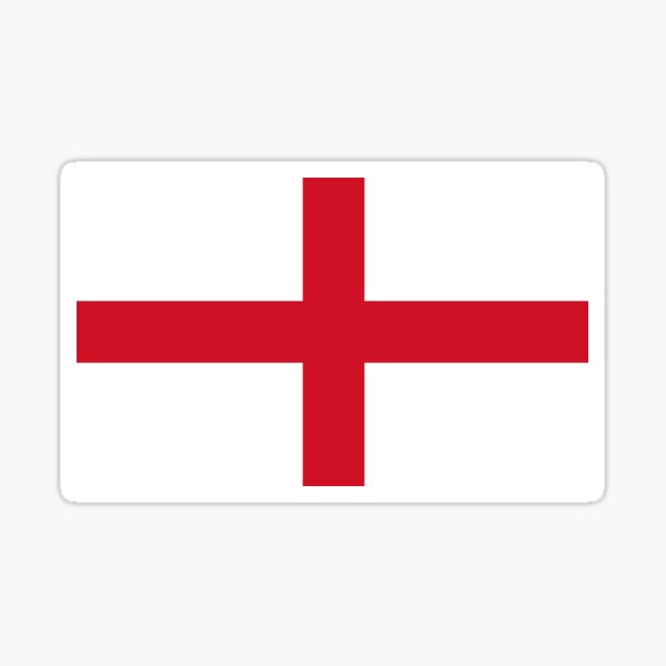 Flag of England - St George's Cross - Football Sport Team Sticker T-Shirt Bedspread Sticker
