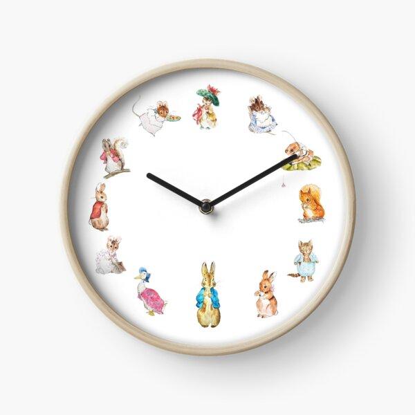 Tales of Peter rabbit and friends  beatrix potter circle Clock