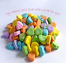 My Hearts Spill Over with LOVE for You! Card by FrankieCat