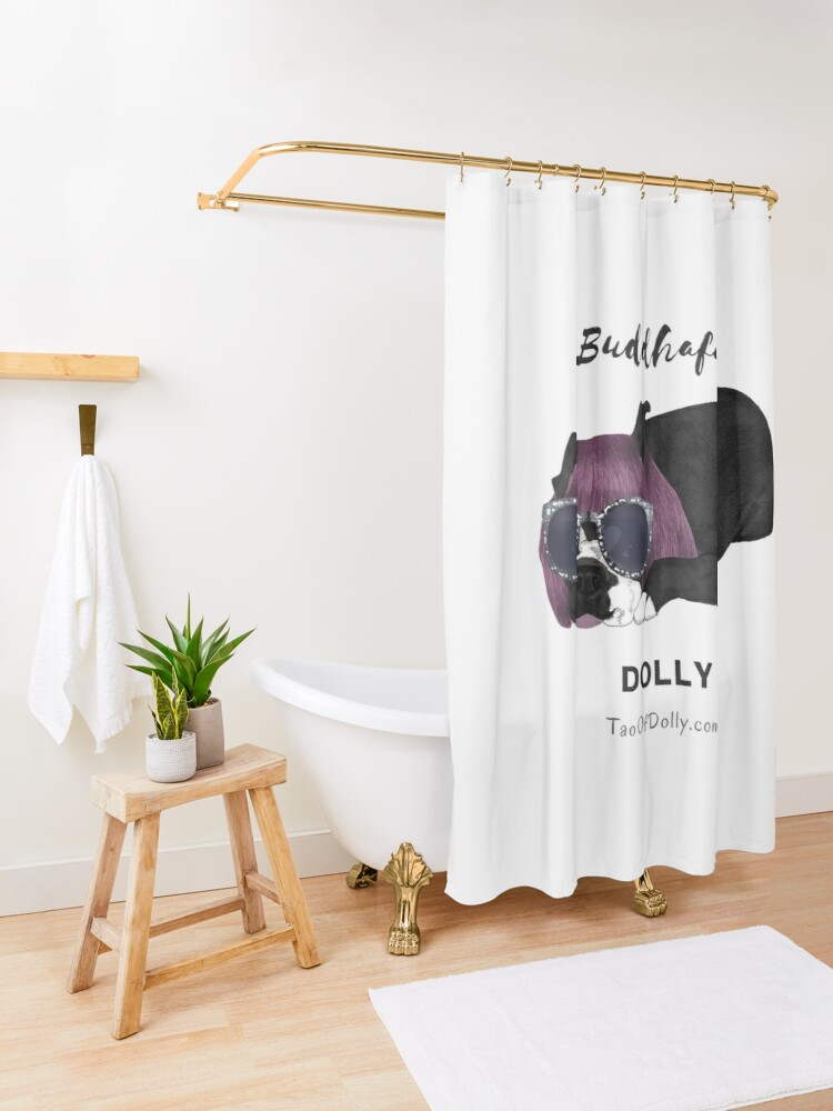 Alternate view of Buddhaful Dolly  Shower Curtain