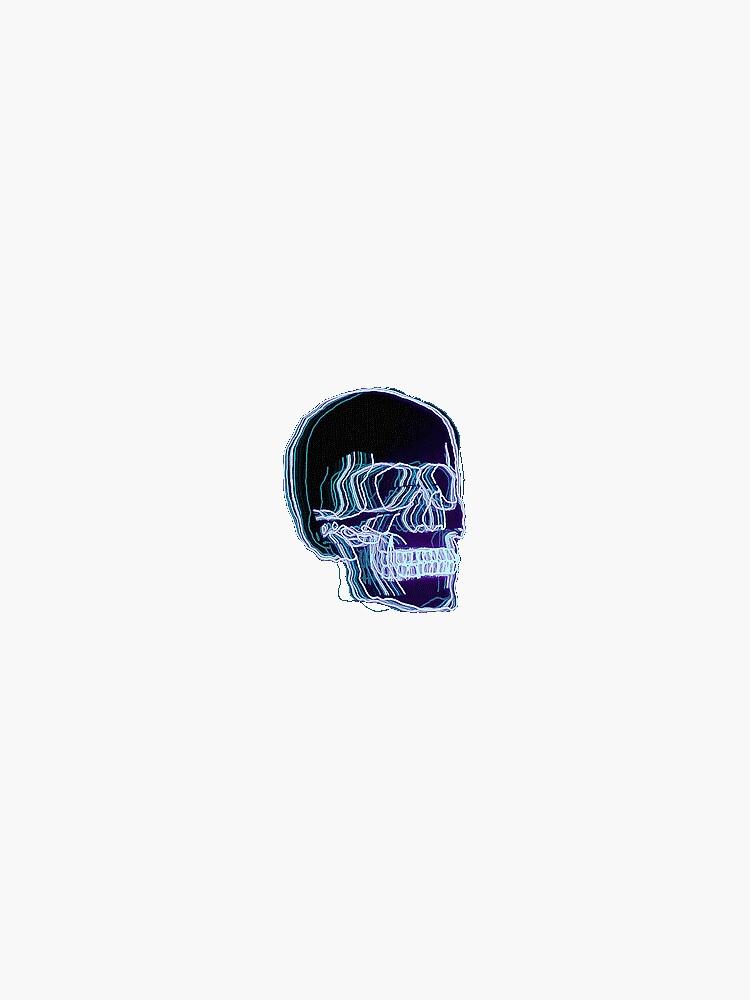 Neon Trippy Skull by amandabrynn