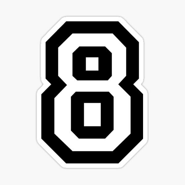 Number Eight Sticker