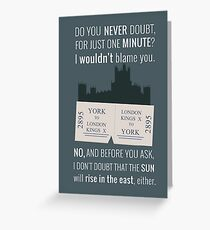 Blue - Downton Abbey  Greeting Card