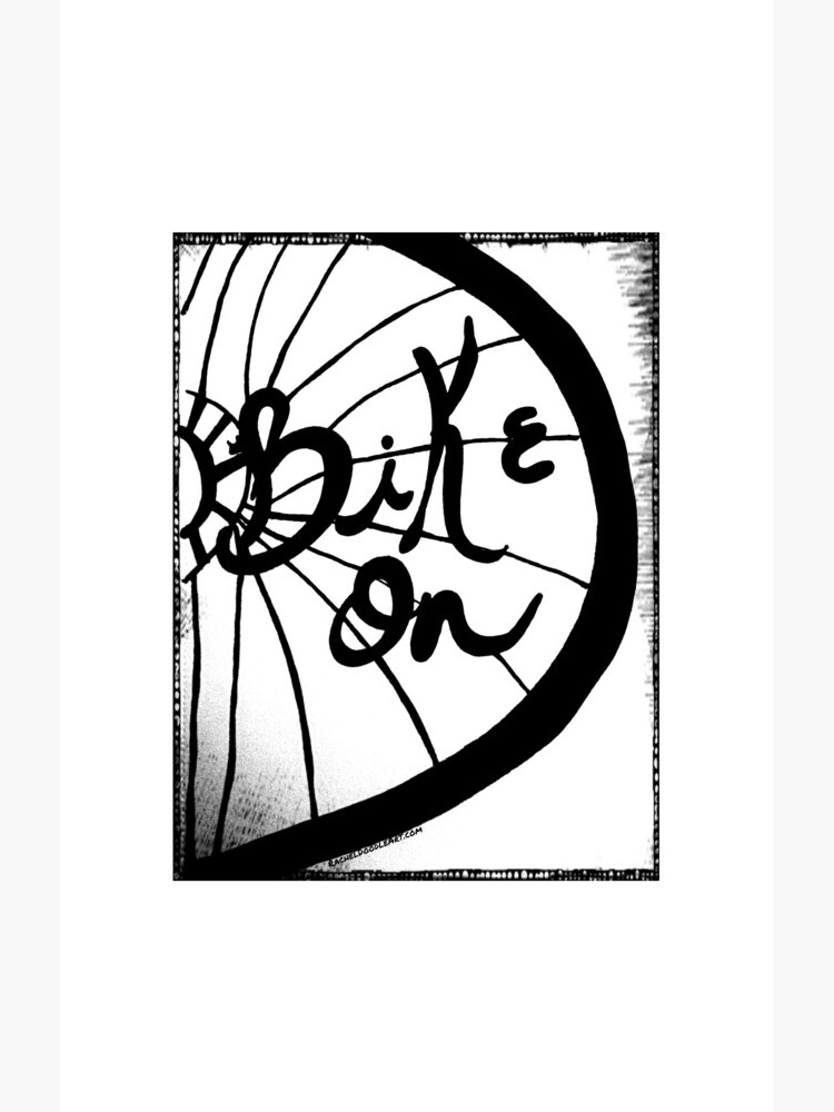 Rachel Doodle Art - Bike On by irach