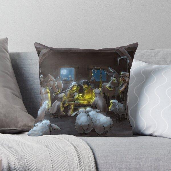 The Nativity Throw Pillow