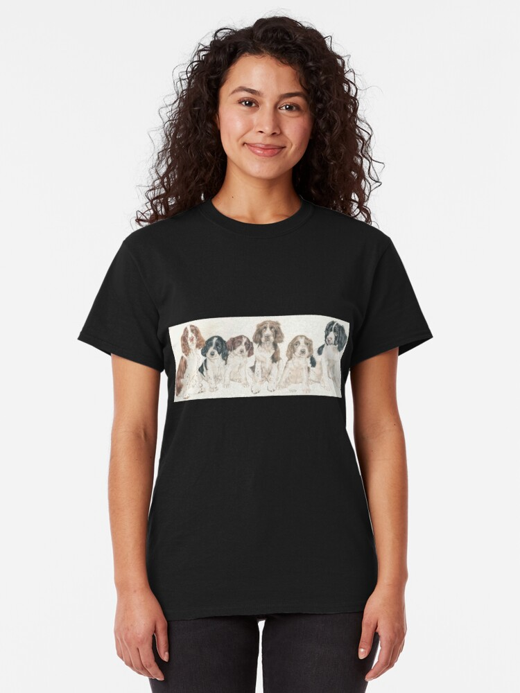 Alternate view of English Springer Spaniel Puppies Classic T-Shirt