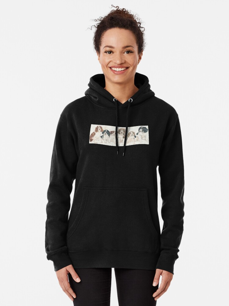 Alternate view of English Springer Spaniel Puppies Pullover Hoodie
