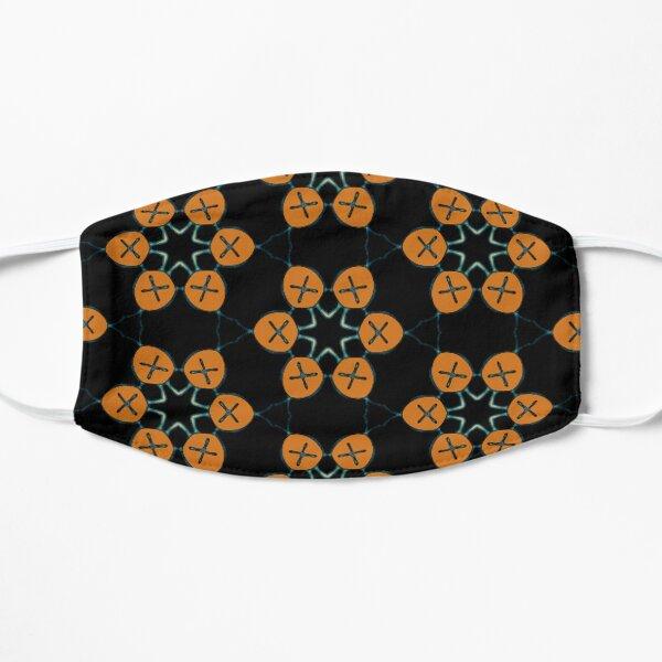 Indigenous Taino Turtle Symbol Inspired Pattern Flat Mask