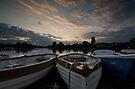 Boating Lake at Thorpness by Nigel Bangert