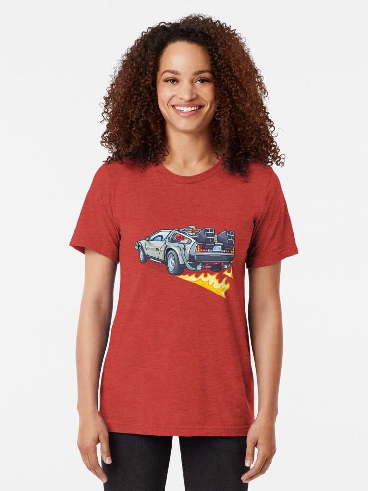 Alternate view of D.M.C OUTATIME Tri-blend T-Shirt