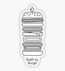 Death by Burger Sticker