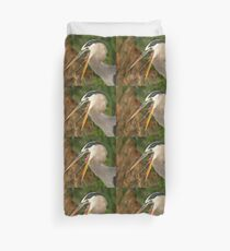 Great Blue Heron Exposure Duvet Cover
