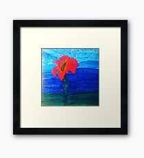 The Flower That Rises Above the Water Framed Print
