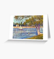 Georges Seurat The Seine and la Grande Jatte - Springtime Greeting Card