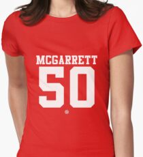 Steve McGarrett football jersey 50 Women's Fitted T-Shirt