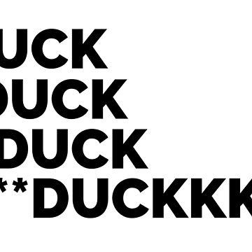 *Duck Autocorrect Sticker de leiderdesign