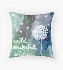 wild wonderful wishes Throw Pillow
