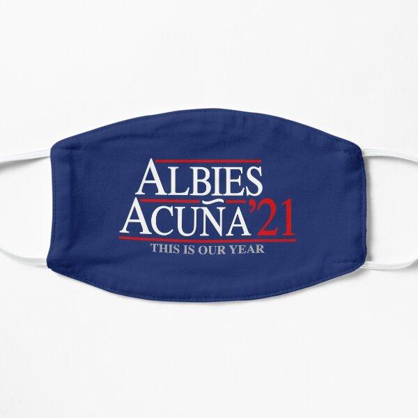 Ozzie Albies y Ronald Acuna Jr '21 2021 Atlanta Baseball ATL Este es nuestro año para el diseño de un fan Mascarilla plana