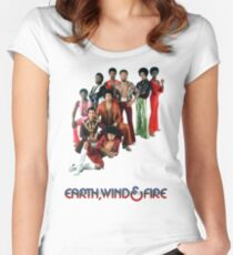 Earth, Wind and Fire - Maurice White Tribute Women's Fitted Scoop T-Shirt
