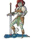 Female Elven Barbarian by Skulldixon