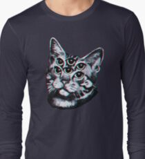 Psychedelic Cat (3D vintage effect) T-Shirt