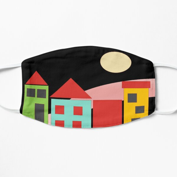 Black Red Blue Yellow Orange Pink Blue Green Teal Home Sweet Home Mask