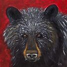 Great Smoky Mountains Black Bear Portrait by Gray Artus