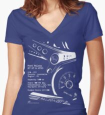 Ford Falcon XY GT & GTHO (specifications) © Women's Fitted V-Neck T-Shirt