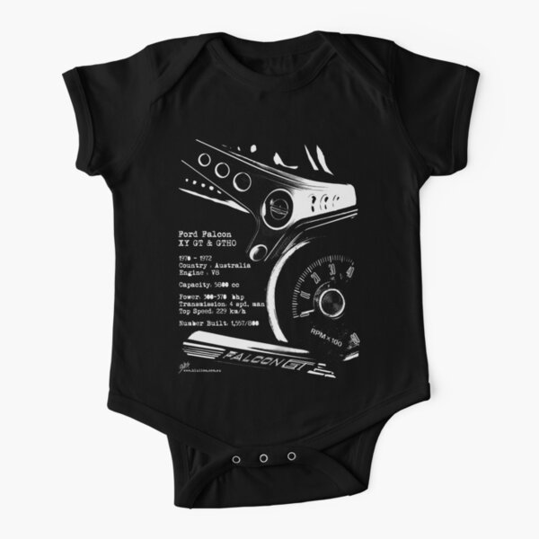 Ford Falcon XY GT & GTHO (specifications) © Short Sleeve Baby One-Piece