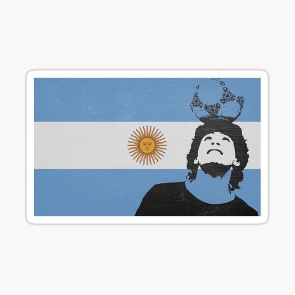 Bandera Argentina Maradona Pegatina