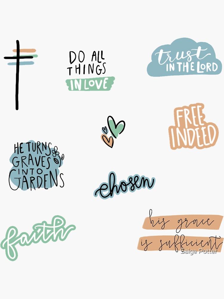 Christian Sticker Pack by saigemint