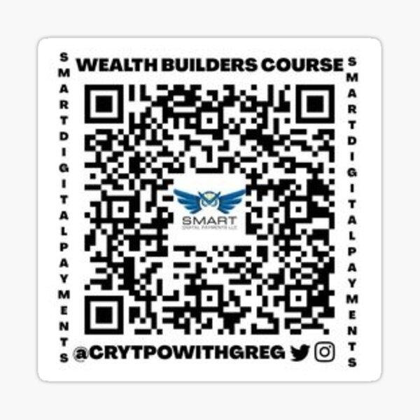 @Cryptowithgreg Affiliate Link To SDP Wealth Builders Course Sticker