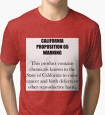 California Proposition 65 Warning Tri-blend T-Shirt