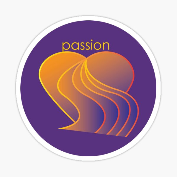 Passion Flowing from the Heart  Sticker