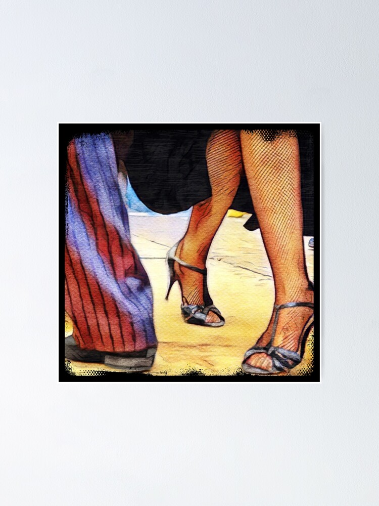 Alternate view of Buenos Aires Street Tango on Sandy Floor Poster