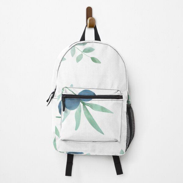 Greenery With Blueberries Backpack
