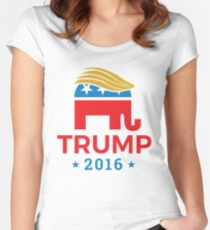 Donald Trump for President 2016 Elephant Women's Fitted Scoop T-Shirt
