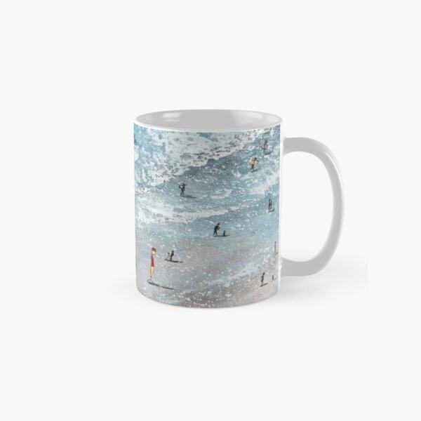 South Fistral Surf School, Fistral Beach, Newquay, Cornwall Art Classic Mug