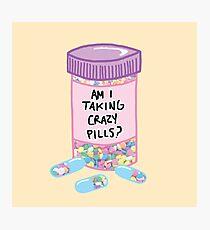 Crazy Pills Zoolander sprinkles weird pills tumblr meme print Photographic Print