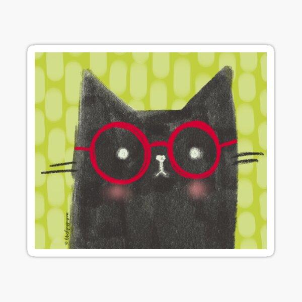 Nerdy The Cat Sticker