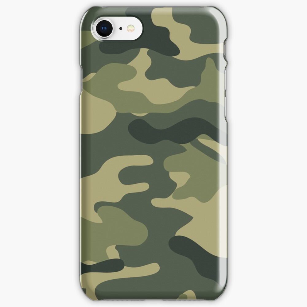Camo khaki iPhone Case & Cover