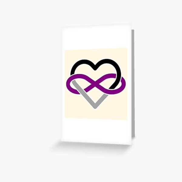 Asexual Polyamory Infinity Heart Greeting Card