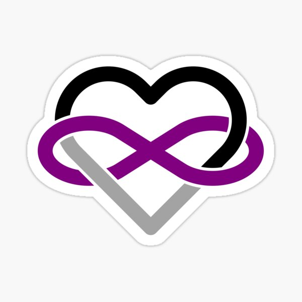 Asexual Polyamory Infinity Heart Sticker